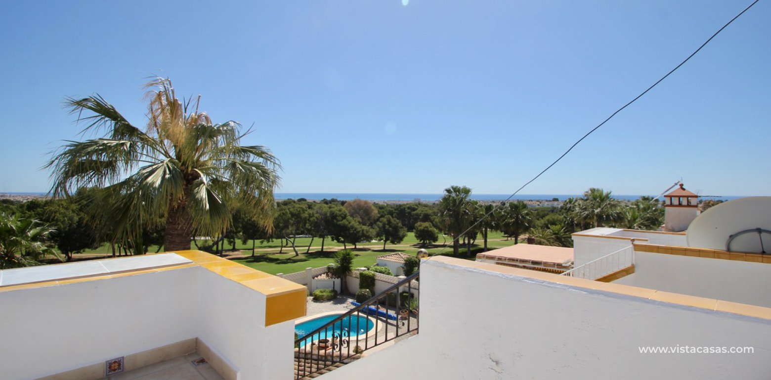 Frontline golf villa for sale in Villamartin sea views