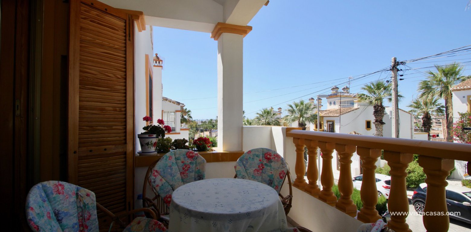 Frontline golf villa for sale in Villamartin balcony